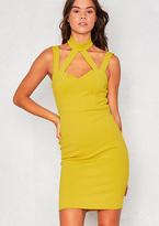 Missy Empire Alissa Green Harness Choker Bodycon Dress