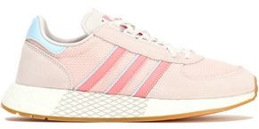 adidas Leather-trimmed Suede And Mesh Sneakers