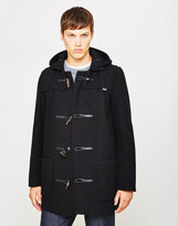 Gloverall Melton Duffle Coat Black