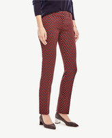 Ann Taylor Devin Scalloped Jacquard Everyday Ankle Pants