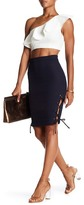 Rachel Pally Indigo Lace-Up Pencil Skirt
