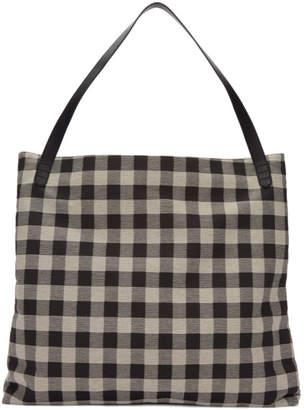 Mansur Gavriel Black and White Oversized Shoulder Hobo Bag