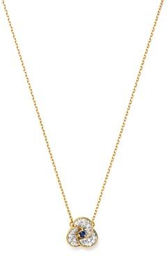 Adina Reyter 14K Yellow Gold Diamond & Sapphire Petals Necklace, 16