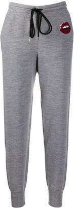 Markus Lupfer Lara lip-sequin knitted trousers