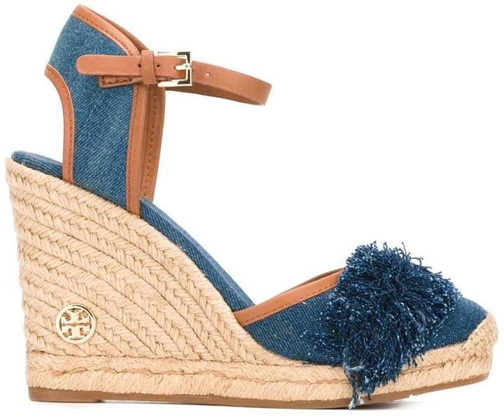 Tory Burch denim wedge sandals
