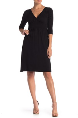 Loveappella Banded Waist Dress