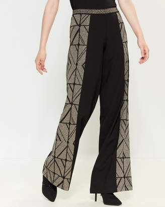 Save the Queen Lurex Geo Pattern Pants