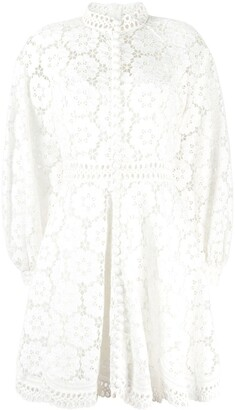 Zimmermann Bells rouleau-button lace mini dress