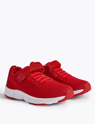 Marks and Spencer Kids Knitted Riptape Trainers (5 Small - 12 Small)