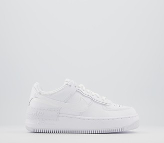 Nike Force 1 Shadow Trainers White Mono