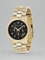 Round Gold Bracelet Watch