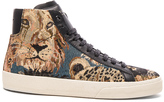 Saint Laurent Court Classic Beast Tapestry Sneakers