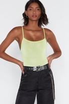 Nasty Gal Womens Let's Get Physical Slinky Bodysuit - green - 10