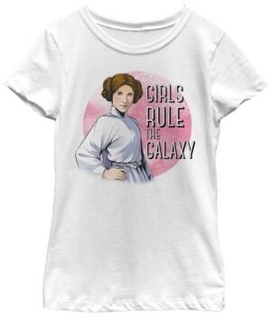 Fifth Sun Star Wars Big Girl's Princess Leia Girls Rule The Galaxy Short Sleeve T-Shirt