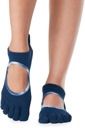 Toesox Bellarina Contrast Trim Full-Toe Grip Socks