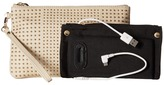 Mighty Purse Cow Leather Charging Stud Wristlet