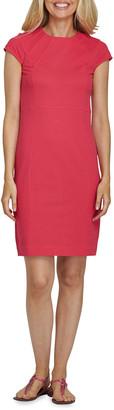 Joan Vass Cap-Sleeve Casual Dress