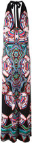 Roberto Cavalli abstract print halterneck dress - women - Viscose - 44