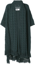 MM6 MAISON MARGIELA fringed full length cardigan - women - Acrylic/Wool - One Size