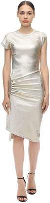 Paco Rabanne Asymmetric Stretch Lurex Jersey Dress