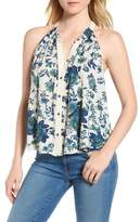 Lucky Brand Halter Style Floral Top