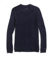 Tommy Hilfiger Final Sale-Crew Neck Mix Stitch Sweater