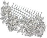 Ever Faith Wedding Silver-Tone 3 Rose Flower Hair Comb Pin Austrian Crystal A09521-1