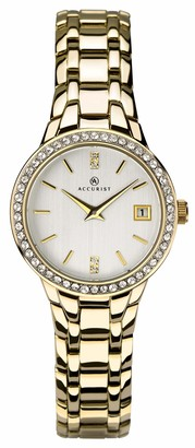 Accurist Womens Analogue Classic Quartz Watch with Brass Strap 8178