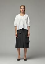 Comme des Garcons Women's Cotton Long Blouse in White Size 1