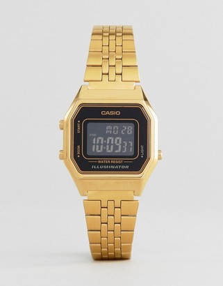Casio LA680WEGA-1BER mini digital black dial watch