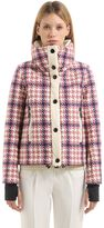 Moncler Flaine Houndstooth Printed Down Jacket