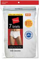 Hanes Men's White Briefs (28 Pairs)