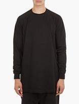 Rick Owens Black Relaxed Cotton Sweatshirt