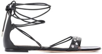 Alexander McQueen Tie-Ankle Sandals