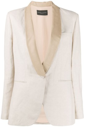 Fabiana Filippi Contrasting Lapel Single-Breasted Blazer