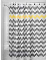 interdesign shower curtain polyester chevron