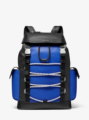 Michael Kors Greyson Logo Mixed-Media Backpack