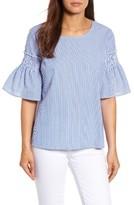 Petite Women's Halogen Bell Sleeve Poplin Top