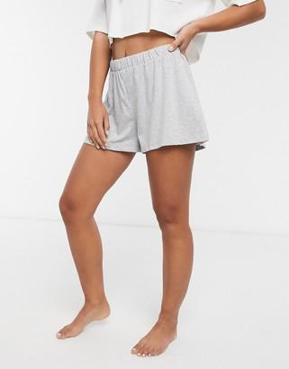 ASOS DESIGN mix & match jersey pyjama short in grey marl