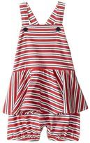 Ralph Lauren Jersey Stripe Peplum Shortalls Girl's Overalls One Piece