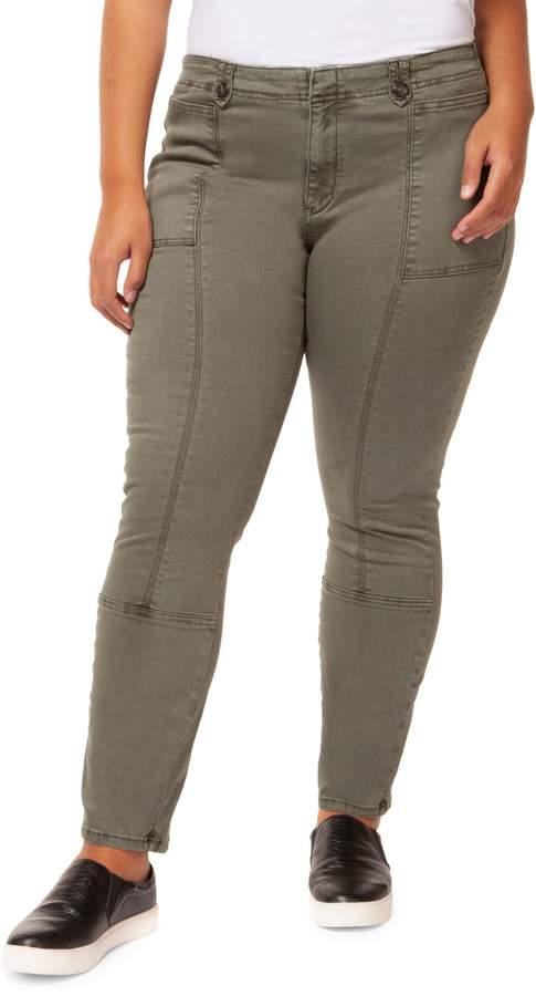 Dex Plus Buttoned Seam Jeans