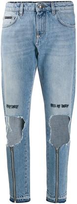 Philipp Plein Miss Boyfriend Statement jeans