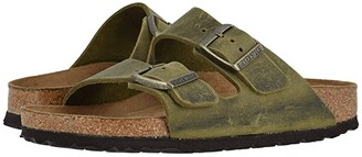 Birkenstock Arizona Soft Footbed (Jade Oiled Leather) Sandals