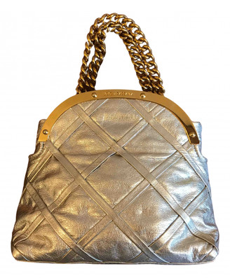 Dolce & Gabbana Silver Leather Handbags