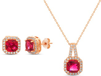 Lesa Michele Cubic Zirconia Earrings & Necklace Set