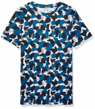 Lacoste Mens Sport Short Sleeve Camo Printed Tee T-Shirt