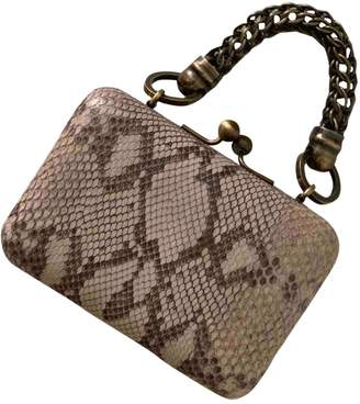 Jacques Fath Grey Python Handbags