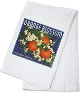 Orange Blossom Brand - Redlands, California - Citrus Crate Label (100% Cotton Absorbent Kitchen Towel)