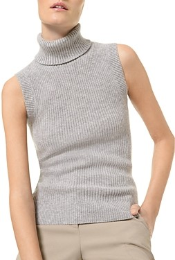 MICHAEL Michael Kors Cashmere Sleeveless Turtleneck Sweater