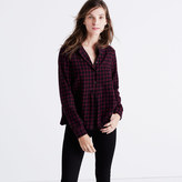Madewell Flannel Market Popover Shirt in Gingham Check